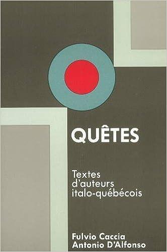 Lire un Quêtes : textes italo-québeécois pdf