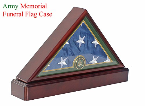 Honorable U.S. Army FLAG DISPLAY CASE Military Shadow Box for 5'X9.5' Burial/Funeral/Casket Folded, FC59P5 by DisplayGifts