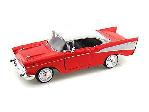 Motormax 1957 Chevy Bel Air Coupe 1/24 Red 73228AC-RD