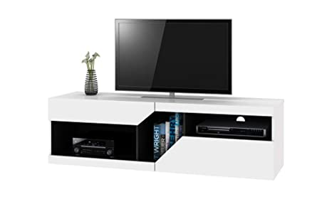 Tavolino Per Tv.Selsey Virginia Mobile Tv Con Cassetti Porta Tv Moderna