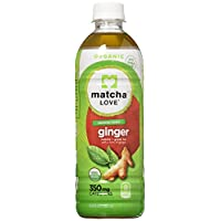 Matcha Love Organic Japanese Matcha and Green Tea, Ginger, unsweetened, 16.9 Ounce (Pack of 12)