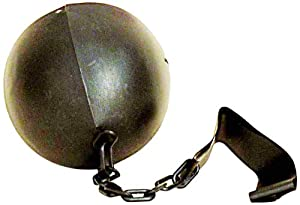 ball and chain costume. forum novelties prisoner inmate costume black ball and chain f
