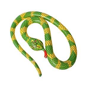 TOYANDONA Serpente Gonfiabile Galleggiante Gonfiabile Giocattolo Palloncino Serpente Spaventoso per Giardino Fattoria… 1 spesavip