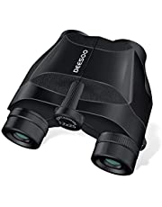 Deesoo 12x25 Compact Binoculars for Adults and Kids - Bird Watching Binocular with Clear Weak Light Vision - 10mm Large Eyepiece Easy Focus - Small Hiking Binoculars for Concerts,Hunting,Wildlife