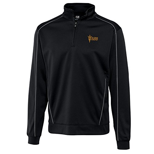 NCAA Arizona State Sun Devils Men's CB DryTec Edge Half Zip Jacket, Black, Medium