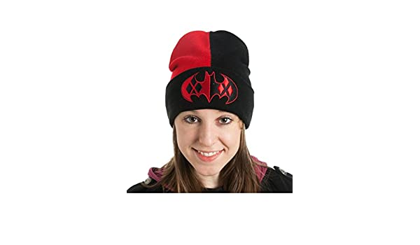 aad878bfe Amazon.com: Batman's Classic Harley Quinn Logo Cuff Slouch Beanie ...