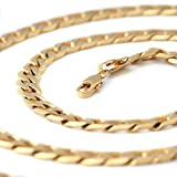 Followmoon 18K Gold Plated Necklace Chain Mens Jewelry