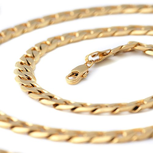 Followmoon 18K Gold Plated Necklace Chain Mens
