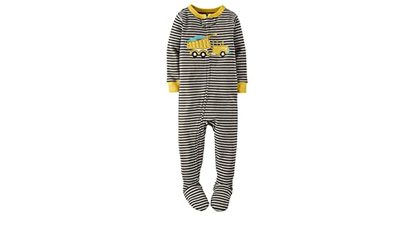 a06bf84a4 Amazon.com  Carter s Boy s Size 4T Striped DUMP TRUCK Cotton Footed ...