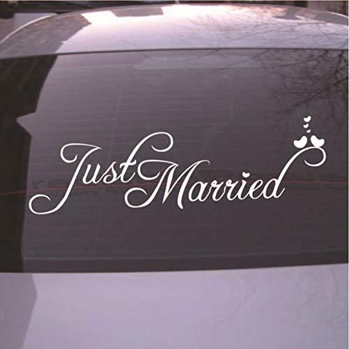 Pandamama Just Married C13 car Sticker