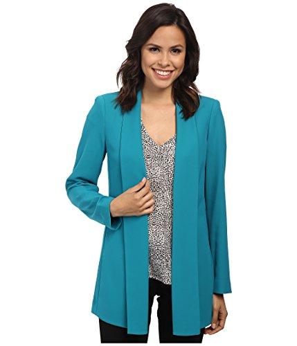 Calvin Klein Womens Solid Stretch Open-Front Blazer Blue XS ()