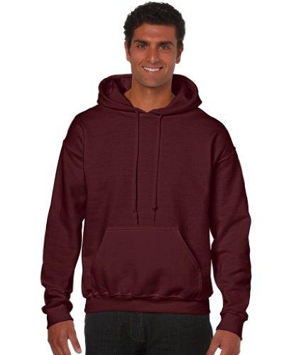 Gildan Heavy Blend Erwachsenen Kapuzen-Sweatshirt 18500 S, Maroon