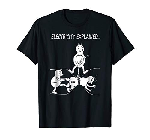 Funny Electricity Explained Physics Shirt Gift for Women Men -
