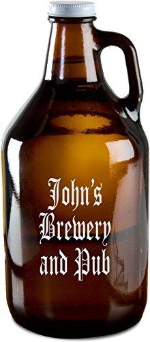 classic amber beer growler - 2