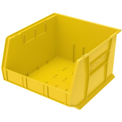 Akro-Mils 30270 Plastic Storage Stacking Hanging Akro Bin, 18-Inch by 16-Inch by 11-Inch, Yellow, Case of -