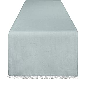 "Lenox French Perle Solid 70"" Runner, Ice Blue"