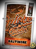 200 Baltimore Orioles MLB Baseball Lighter with Flint Pack - Premium Lighter Fluid (Comes Unfilled) - Made in USA!