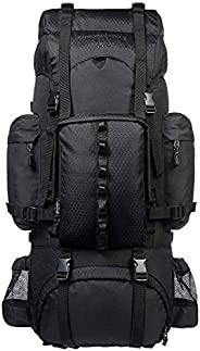 AmazonBasics Internal Frame Hiking Camping Rucksack Backpack with Rainfly - 15.5 x 7 x 32 Inches, 65 Liters, B