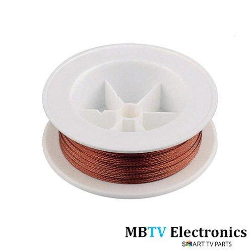 Tresse à dessouder Serpillère Bobine de 15m à souder Remover Tresse/Colophane–2, 5mm 15metres 5mm 15metres MBTV Electronics