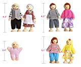 PUCKWAY Kids Girls Lovely Happy Dolls Family