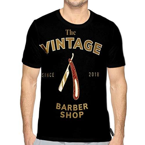 T-Shirt 3D Printed Vintage Barber Shop Logo Casual - Barbershop Toys Razor Kids