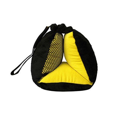 Bubble Bum Sneck Neck Pillow, Black/Neon Yellow
