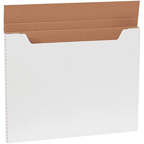 "Aviditi M20161 Jumbo Fold-Over Mailer, 20"" Length x 16"" Width x 1"" Height, White (Bundle of 20)"