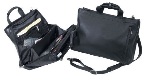 THE EXPRESS EXECUTIVE SOFT LEATHER BRIEFCASE - BLACK