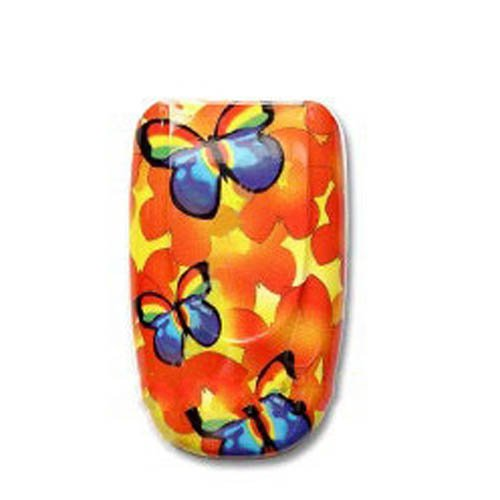 - Fits Samsung X426 X427 AT&T Cell Phone Hard Plastic Faceplate Orange Butterfly
