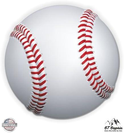 "BALL LIFE Baseball Adhesive Vinyl Decal Sticker Car Truck Window Bumper Boat 12/"""