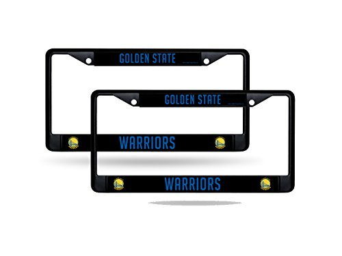 Rico Golden State Warriors NBA Black Metal (2) License Plate Frame Set