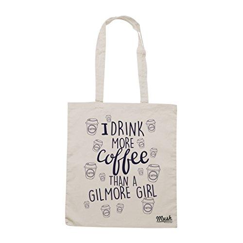 Borsa BEVO PIÙ CAFFÈ DI UNA GILMORE GIRL - Sand - FILM by Mush Dress Your Style