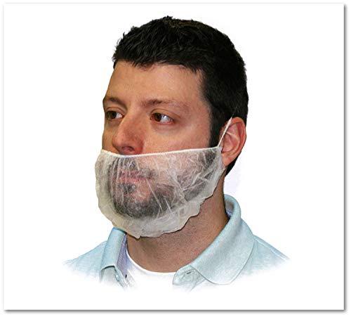 PP Beard Mask, Elastic, White -