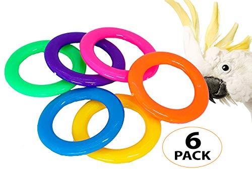 Bonka Bird Toys 1196 Pk6 Plastic Cane Rack Rings Foot Talon Toy