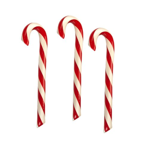 3 Peppermint Candy Canes, Hammonds Handmade, 2 Oz Red/White Stripe