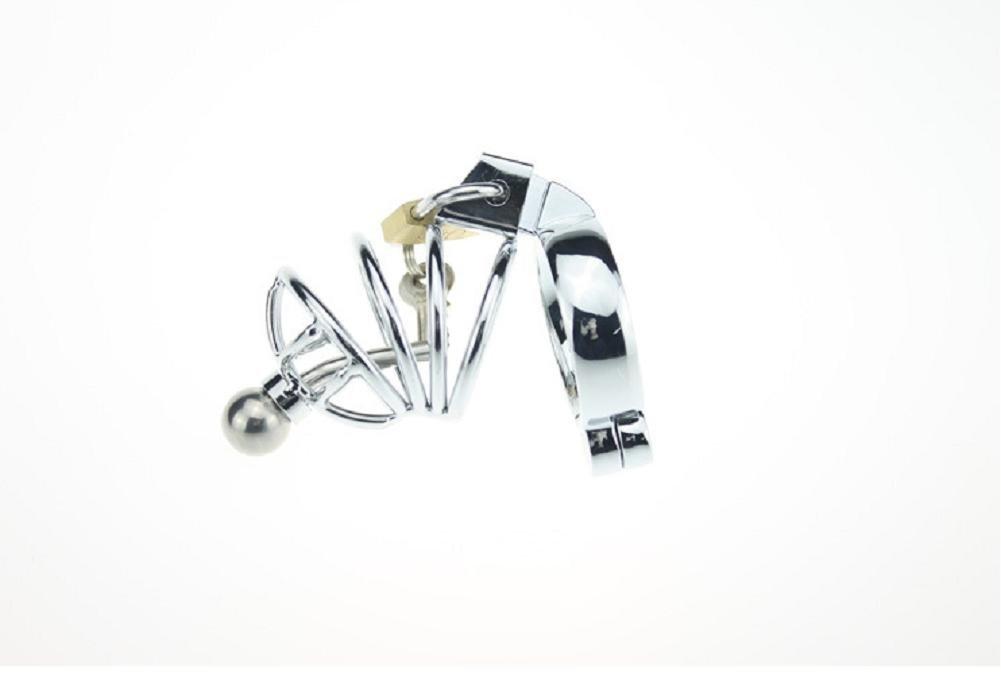 T-Day castidad, Hombre, cinturón de castidad, T-Day cinturón de seguridad virgen, metal divertido, (acero inoxidable) negro, juguetes sexuales, snap ring inner diameter 50mm 790ad9
