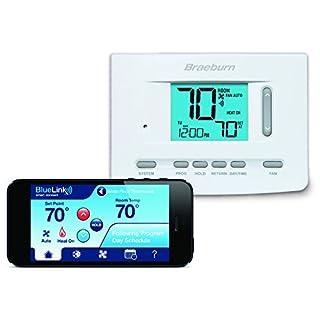 Braeburn 7205 Digital Programmable Wi-Fi Thermostat, White