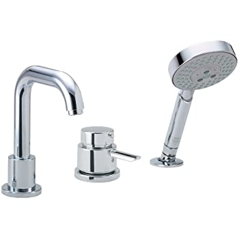 Hansgrohe 04128000 Focus S 3-Hole Thermostatic Tub Filler Trim, Chrome