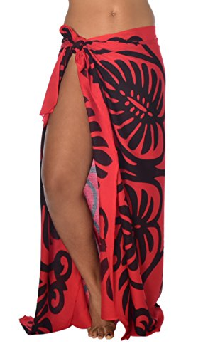 Casual Movements Women's Quilt Swimsuit Coverup Red/Black70