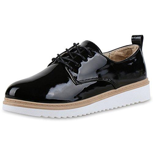 Japado - Zapatos de vestir brogues Mujer negro satinado
