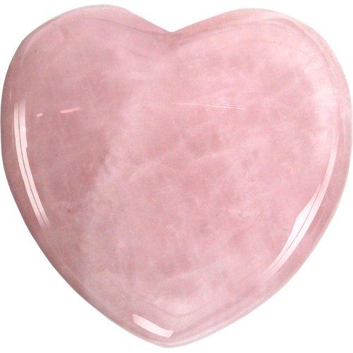 New Age Source Puffed Heart - Rose Quartz (Rose Quartz Puffed Heart)