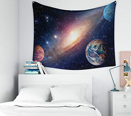 KIOAO 80x60 Inches Astrology Astronomy Earth Outer Space Solar System Mars Planet Milky Way Galaxy Elements This Image Large Tapestry Wall Hanging Dorm Home Bedroom Living Room Art Wall Tapestries