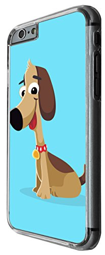 1142 - Cute Fun Dog Animal Drawing Blue Design For iphone 4 4S Fashion Trend CASE Back COVER Plastic&Thin Metal -Clear