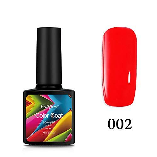 (7.5ML Color Series Nail Gel Polish Top Base Coat Long Lasting Shimmer Soak Off Nail Art Gel Varnish Manicure 002)