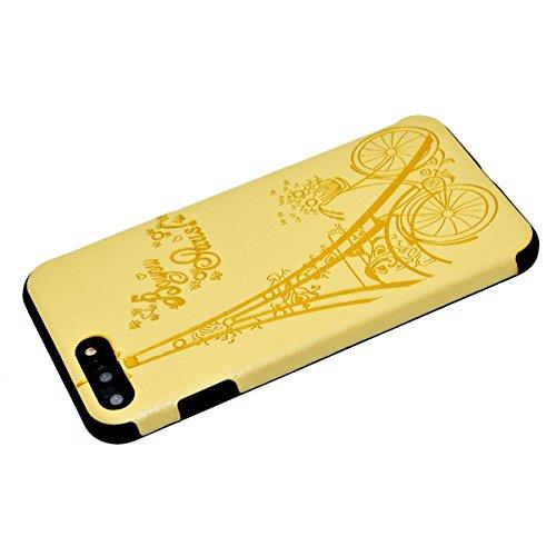 "inShang iPhone 6 Plus iPhone 6S Plus 5.5"" Funda y Carcasa para iPhone 6 Plus iPhone 6S Plus 5.5 inch case iPhone 6+ iPhone 6S+ 5.5 inch móvil, Ultra delgado y ligero Material de TPU, carcasa posterior Yellow tower"