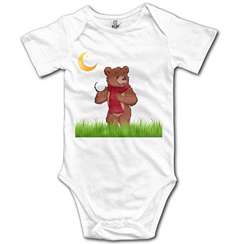 Grace Little Little Bear Unisex Particular Newborn Baby Romper Baby Boy Bodysuit 3M White