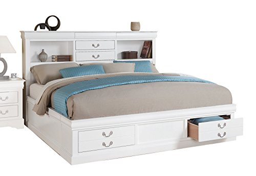 ACME Furniture Louis Philippe III 24490Q Queen Bed with Stor