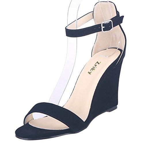 ZriEy Women's Sexy Comfort wedge Heel Ankle Straps Sandals