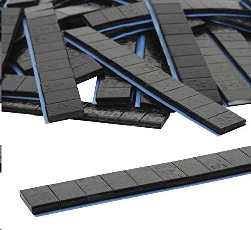10 je 12/5g Stü ck Auswuchtgewichte Schwarz 0, 6kg Klebegewichte Stahlgewichte Kleberiegel Abrisskante Verzinkt Riegel FE Eisen Runde Kante DWT-Germany