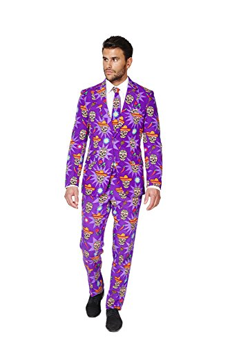 OppoSuits Men's El Muerto Party Costume Suit ,40